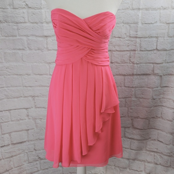 614c3d6c92e6 David's Bridal Dresses & Skirts - David's Bridal Short Crinkle Chiffon  Bridesmaid